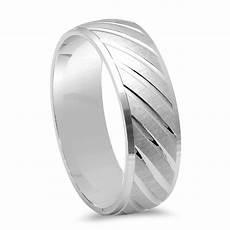 men s fancy designer diamond cut wedding band 925 sterling