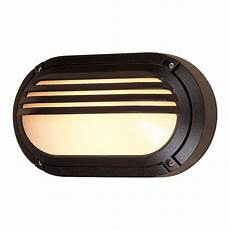 firstlight verona single light outdoor oval wall fitting in black finish with opal diffuser