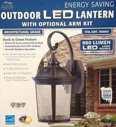 2 pack altair lighting outdoor led lantern with optional arm kit 880 lumens kamikazeeedasa