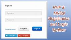 php mysql application registration and login youtube