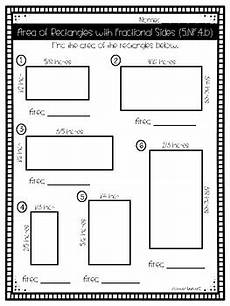 rectangle measurement worksheets 1587 5 nf 4b area of rectangles with fractional sides by abarca