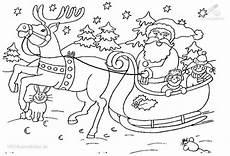 Ausmalbilder Winter Und Weihnachten Ausmalbild Weihnachts Schlitte