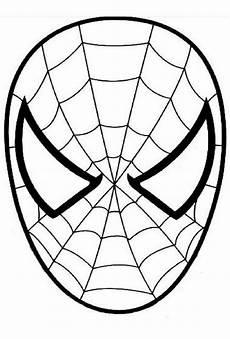 ausmalbild den spinnenmann maske masken zum