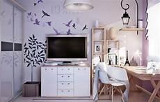 Jugendzimmer Farben Wandgestaltung - wandgestaltung jugendzimmer m 228 dchen flieder farbe