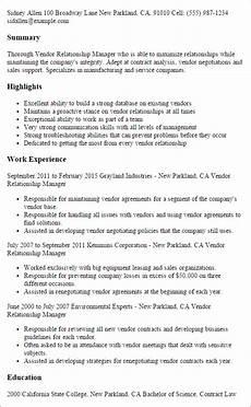 vendor management resume printable planner template