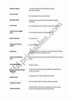 education vocabulary esl worksheet by jakehands