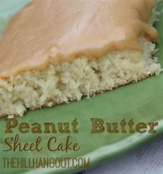 peanut butter sheet cake the hill hangout
