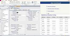 access database membership tracking templates exles
