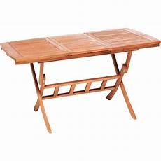 Gartentisch Klappbar Holz - gartentisch klappbar 110 160 cm x 90 cm ausziehbar braun