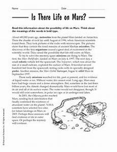 mars planet worksheet is there on mars 3rd 4th grade worksheet lesson