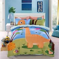 kids dinosaur print bedding set twin queen size ll ebeddingsets