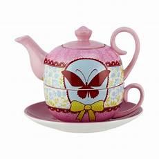 4tlg set tea for one design piep schmetterling