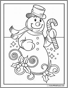 snowman coloring sheet top hat