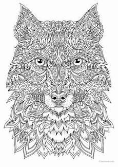 wolf mandala ausmalen ausmalbilder ausmalen