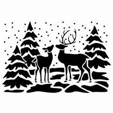 Fensterbilder Vorlagen Weihnachten Kostenlos Fenster Kunststoff Schablone Din A4 Rehe Schablonen