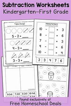 subtraction worksheets in math 10119 free k 1 subtraction worksheets instant free homeschool deals