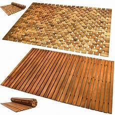 Badteppich Badematte Holzmatte Holz Badvorleger Fu 223 Matte