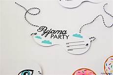 invitaciones para una fiesta de pijamas fiesta de