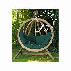 fauteuil suspendu avec support amazonas fauteuil suspendu globo chair green