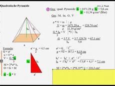 wie berechnet die grundfl 228 che einer quadratischen