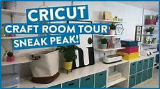 cricut craft room tour sneak peak youtube