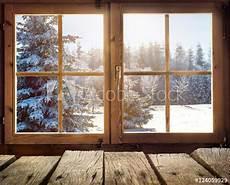 Quot Blick Aus Dem Fenster Einer Holzh 252 Tte Im Winter Quot Photo