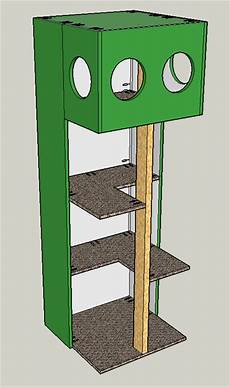 cat house design plans cat tree house buildsomething com
