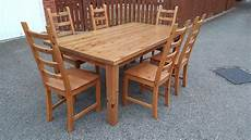 ikea forsby solid wood dining table 180cm 6 kausby