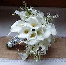 white calla lily wedding bouquet real touch mini white calla