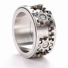 mens wedding ring with gears which their mind 2015 wedding gear ring stylish rings