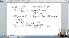 accounting unit 5 part 2 allowance for doubtful accounts income statement method youtube