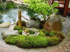 Japanischer Garten Bambus Brunnen Gestalten Natursteine