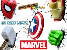 marvel avengers 3d wall lights iron man thor captain