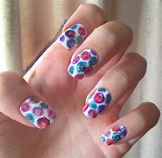 indian ocean polish simple watercolour flower nail art