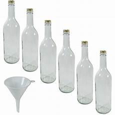 viva haushaltswaren 6 x glasflasche 750 ml mit