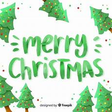 green merry christmas lettering vector free download