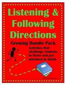 following directions comprehension worksheets 11654 listening and following directions growing bundle reading comprehension listening following