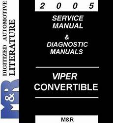 car maintenance manuals 2005 dodge viper auto manual 2005 viper dodge service manual diagnostic manuals srt buy used cars dodge srt