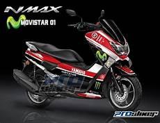 Nmax Modif Stiker by Stiker Motor Yamaha Nmax Warna Merah Desain Motogp