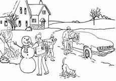 malvorlage winter schnee kostenlose ausmalbilder zum