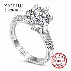 luxury pure silver wedding rings brand jewelry sona stone 8mm cz ring 925 sterling silver