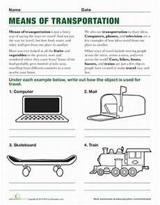 transportation worksheets for middle school 15201 means of transportation