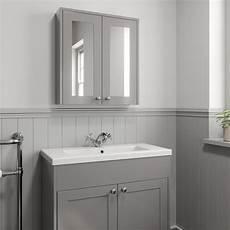 600mm bathroom mirror cabinet 2 door storage cupboard wall hung grey traditional ebay