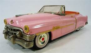Vintage 1950 PINK CADILLAC CONVERTIBLE Friction Toy Car 50