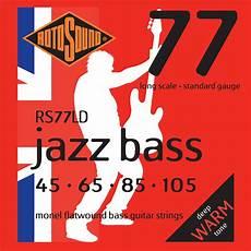Rotosound Rs77ld Jazz Bass Strings Flatwound Standard 45