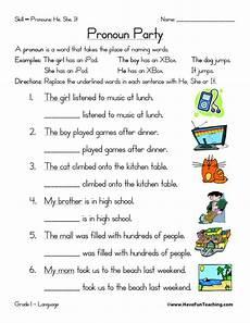 free worksheets using pronouns pronoun worksheet have fun teaching