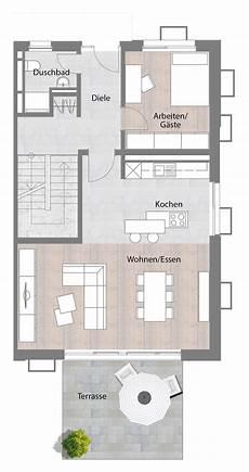 Moderne Doppelhäuser Grundrisse - doppelhaush 228 lfte typ b erdgeschoss mit terrasse 73 60