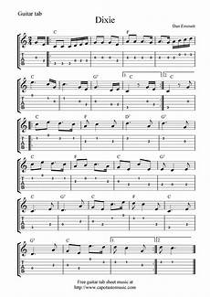 guitar music sheets for beginners free guitar tab sheet music dixie guitar tabs guitar
