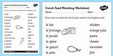 french food matching words worksheet french food match
