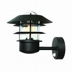 modern black outdoor wall lantern with pir sensor lighting company